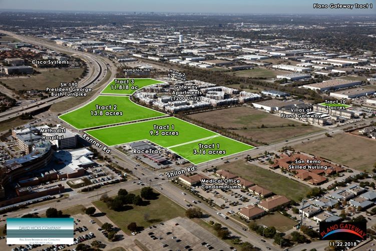 aerial photo plano gateway overall