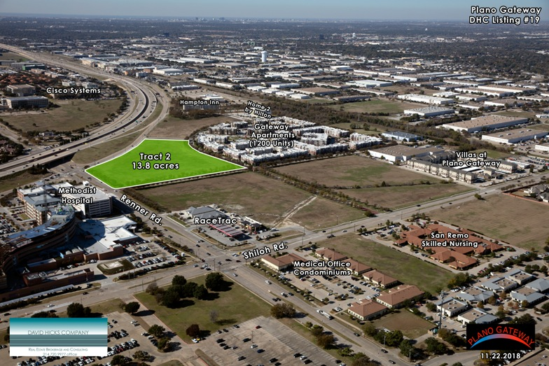 aerial photo tract 2 plano gateway texas